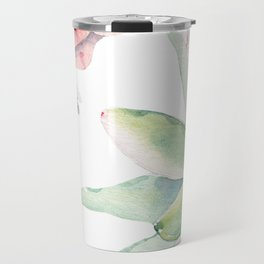 Pink Succulents by Nature Magick Travel Mug