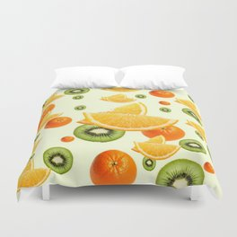 TROPICAL KIWI-ORANGES KITCHEN ART Duvet Cover