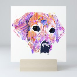 belle the lab Mini Art Print