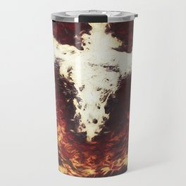 Fantasy artwork. Angel or Damon? Winged crature with crown. Travel Mug