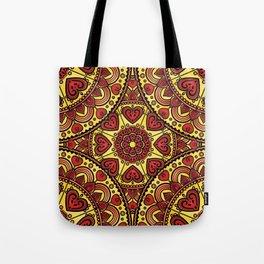 Mandala _ HEARTS Tote Bag