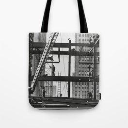 Steel workers New York City Tote Bag