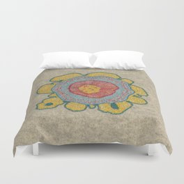 Growing - Pinus 1 - plant cell embroidery Duvet Cover