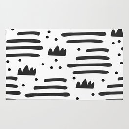 Abstract scandinavian art Rug