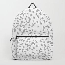 grey spots minimalist decor modern gifts grey and white polka dot brushstroke painting Backpack
