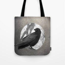 Portrait Of A Crow Tote Bag
