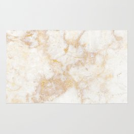 Gold Marble Natural Stone Veining Quartz Rug