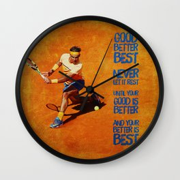 Rafael Nadal Best Wall Clock