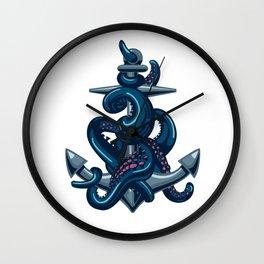 Octopus and Anchor Wall Clock