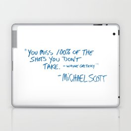 Office Quote Laptop & iPad Skin