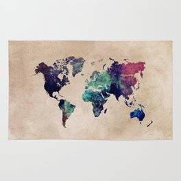 Cold World Map #map #worldmap Rug