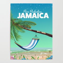 'Pure Paradise' Jamaica travel poster Poster