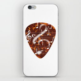 Treble Cleff Plectrum iPhone Skin