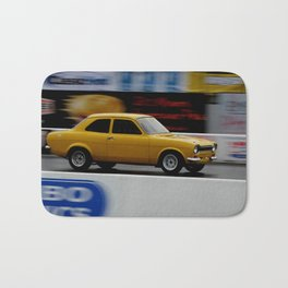 classic yellow - quarter mile Bath Mat