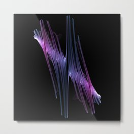"""Chaotic Flow Photo Print  """"Chaotic Flow5"""" - Colorful patterns Surrealistic Expression  Metal Print"""