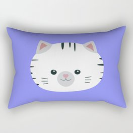 Black and White tiger cat Rectangular Pillow