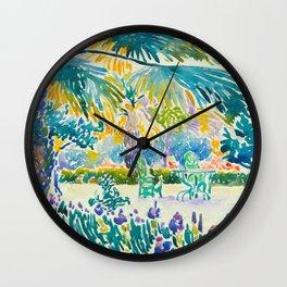 Henri-Edmond Cross Neo-Impressionism Pointillism Garden of the Painter at Saint Clair 1908 Wall Clock