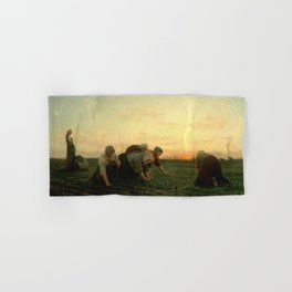 Jules Breton - The Weeders Hand & Bath Towel