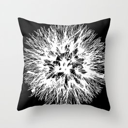 Make A Wish Dandelion Vector In White Throw Pillow