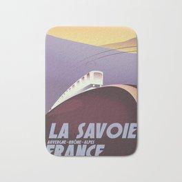 Savoy France train poster Bath Mat