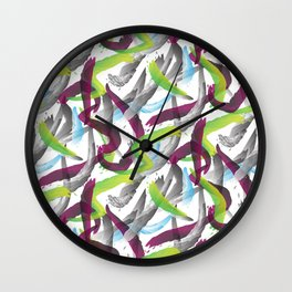 Purple shadows Pattern Wall Clock