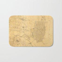 Vintage Map of Alexandria VA (1864) Bath Mat