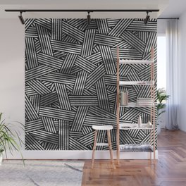 Black and white abstract overlays Wall Mural