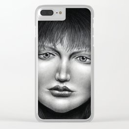 Untitled - charcoal drawing Clear iPhone Case