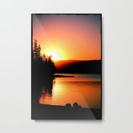 Sunset Silhoette Metal Print
