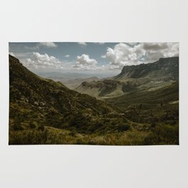 Cloudy Vibrant Mountaintop View in Big Bend - Lost Mine Trail Rug