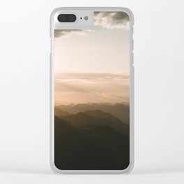 Mountain Sunrise in the german Alps - Landscape Photography Clear iPhone Case