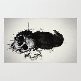 Raven and Skull Rug
