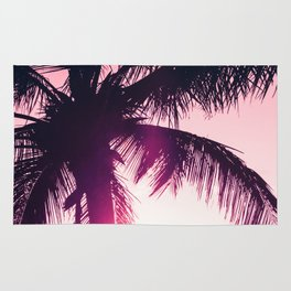 pink palm tree silhouettes kihei tropical nights Rug