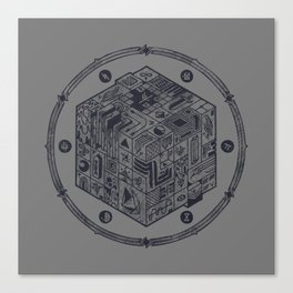The Folly of Time and Space, Explained Canvas Print