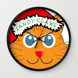 Sandy Claws Wall Clock
