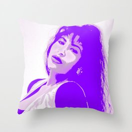 SelenaQuintanilla Queen of Tejano Como la Flor Bidi Bidi bom bom PURPLE Throw Pillow