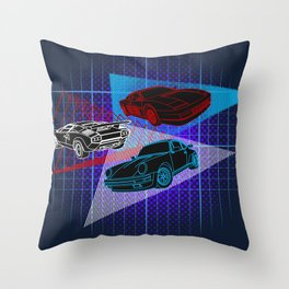 80s Supercars Throw Pillow