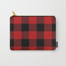 Western Country Woodland Christmas Cottage Primitive lumberjack Buffalo Plaid Carry-All Pouch