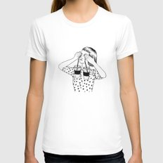 Two Cups Of Tears SMALL Womens Fitted Tee White