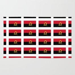 flag of angola -angolan,luanda,angolano,angolana Rug