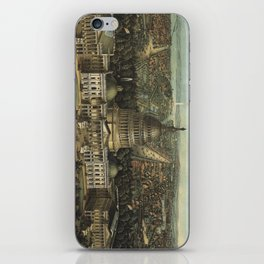 Vintage Pictorial Map of Washington D.C. (1871) iPhone Skin