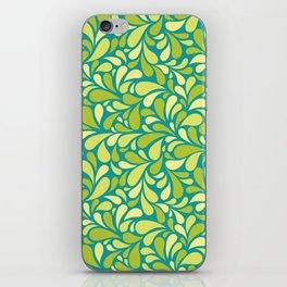 Drops of green iPhone Skin