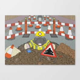 Roadwork Mole Canvas Print