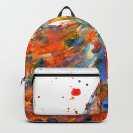 Watercolor Rooster Backpack