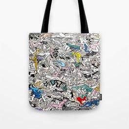 Kamasutra LOVE Doodle Closeup Color Valentine Tote Bag