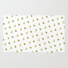 Avocado Print | White Rug