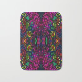 Psychedelic Illusions Intense Colors Pattern Bath Mat
