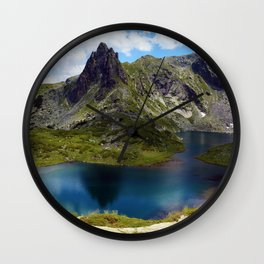 The twin lake, the largest of the seven Rila lakes Wall Clock