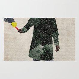 Liam Gallagher watercolour print Rug