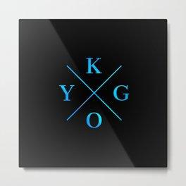 Kygo Blue Logo Metal Print